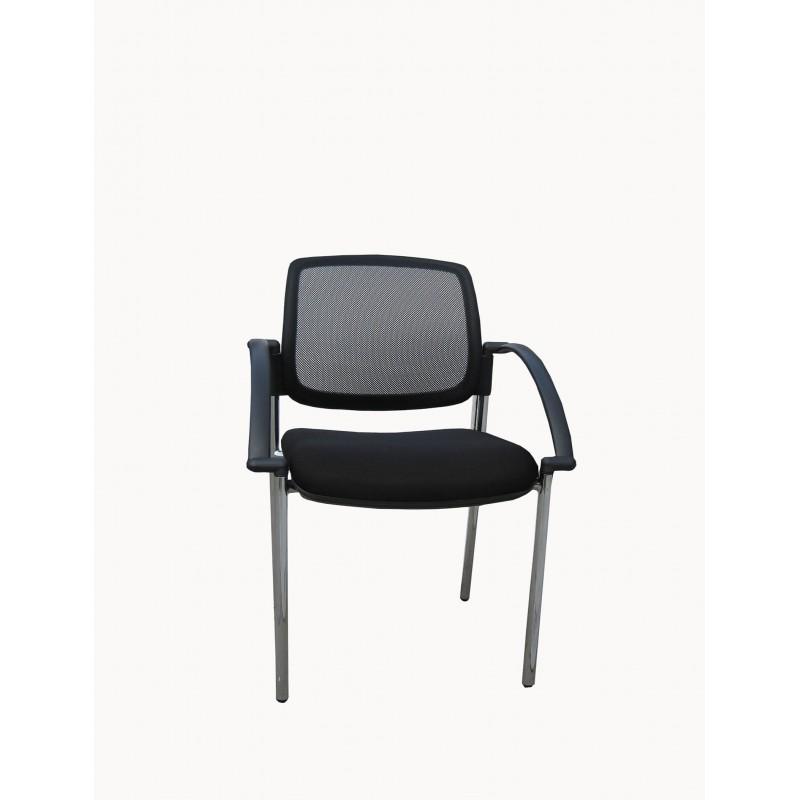 Mesh Visitor Chair Titanium