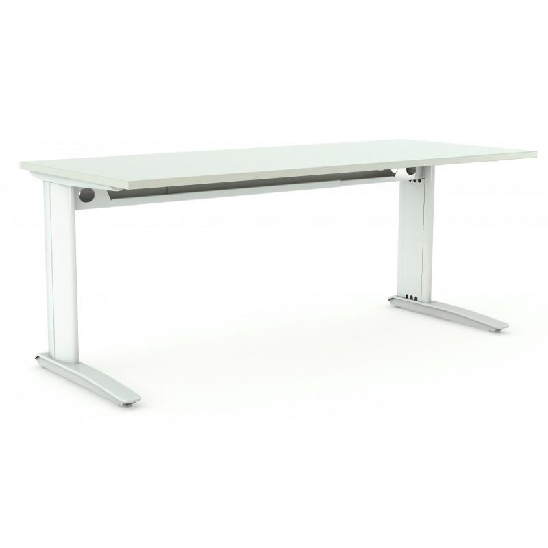 White Straight Desk Aero