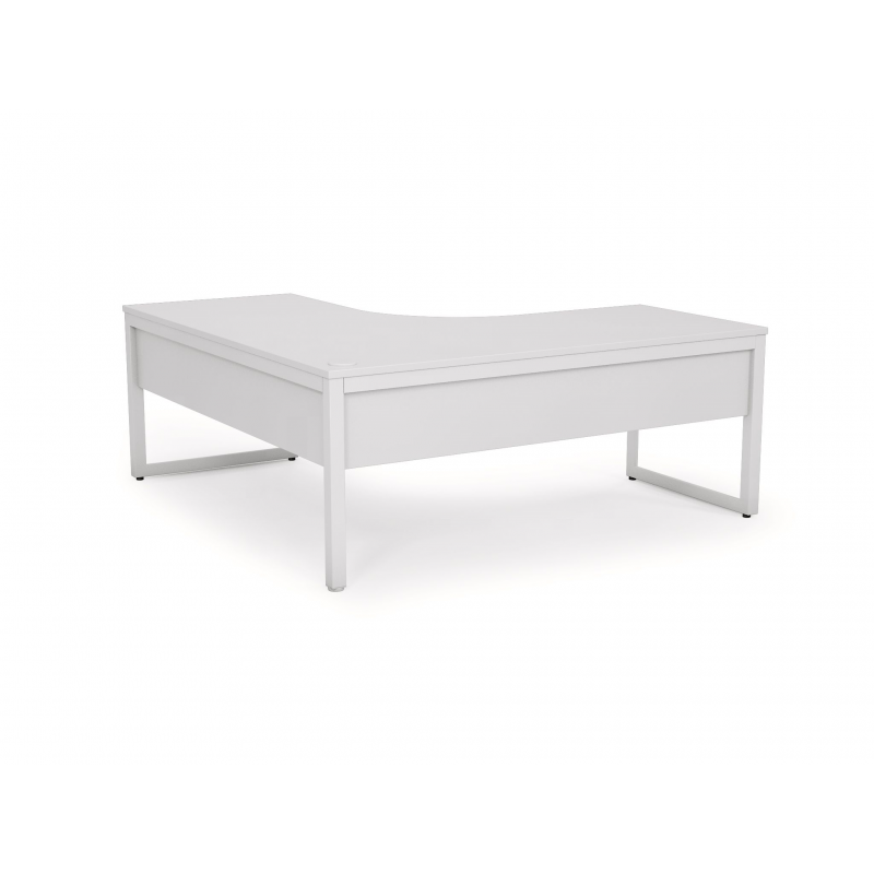 Anvil Fixed Height Single Sided Desk with Return & Modesty