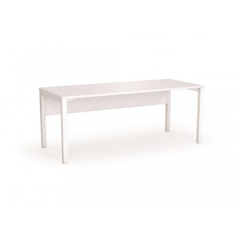 White Modular Straight Desk Axis