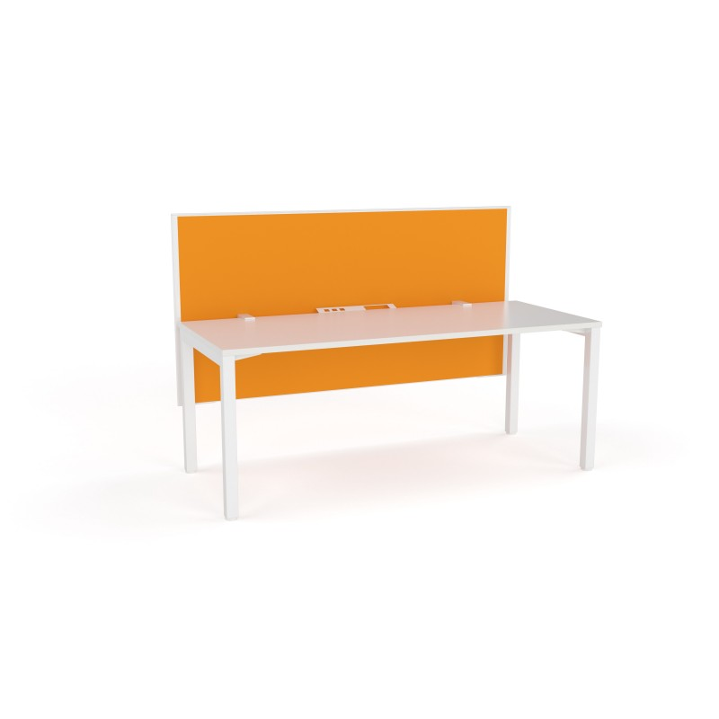 Axis Fixed Height Single Sided 3 User Desk with Fabric Screen
