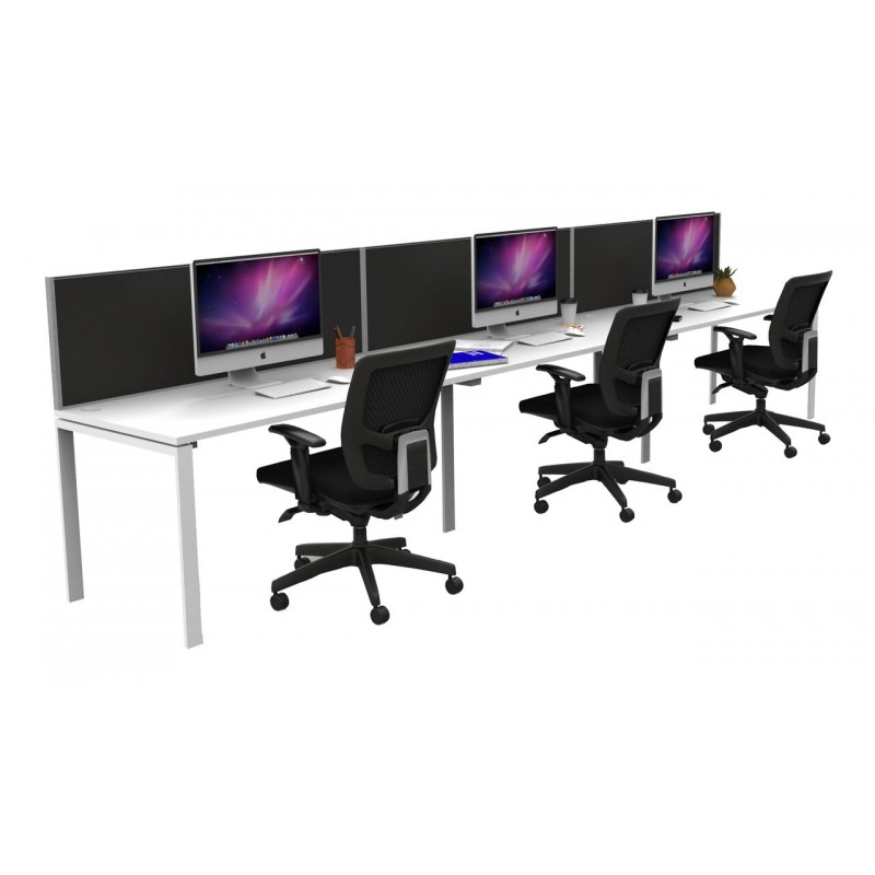 Multi User Single Sided Workstation Profile Leg with Screen