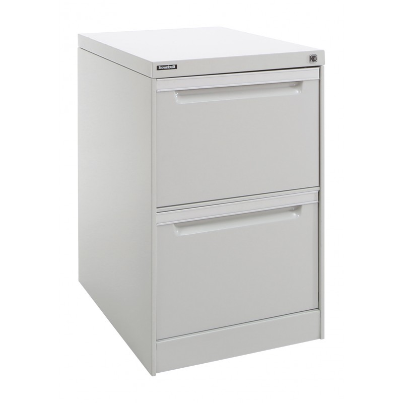 2 Drawer Vertical Filing Cabinet - Brownbuilt Legato