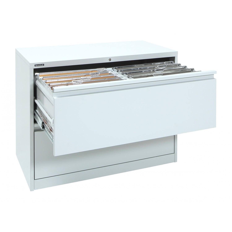 2 Drawer Lateral Filing Cabinet Brownbuilt Octave