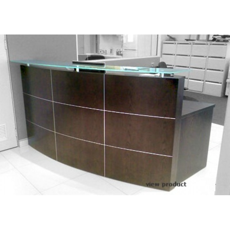 Curved Receptionist Desk/Counter R3
