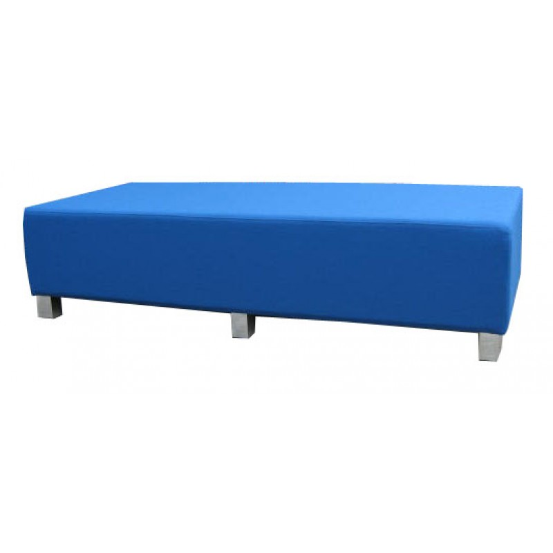 Rectangle Ottoman With Leg