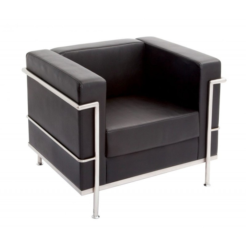 Single Seat Space Lounge Chrome Wrap Around Frame Office